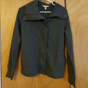 Hidden Zipper Lightweight Sweatshirt